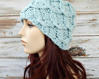 Instant Download Knitting Pattern - Knit Hat Knitting Pattern - Knit Hat Pattern Beatrix Beanie Womens Hat - Womens Accessories