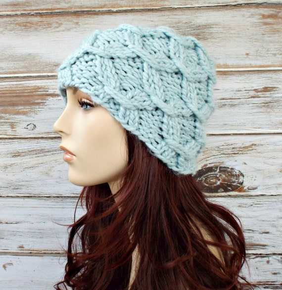 Instant Download Knitting Pattern Womens Hat Pattern Knit Etsy