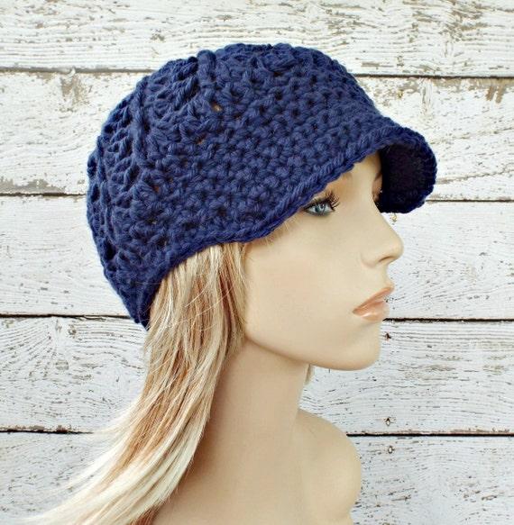 ea783d73dc915 Crochet Hat Womens Hat Blue Hat Blue Newsboy Hat Pippa Swirl