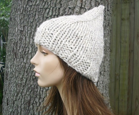 Knit Hat Womens Hat - Gnome Hat in Wheat Knit Hat - Wheat Hat Wheat Beanie Womens Accessories Winter Hat