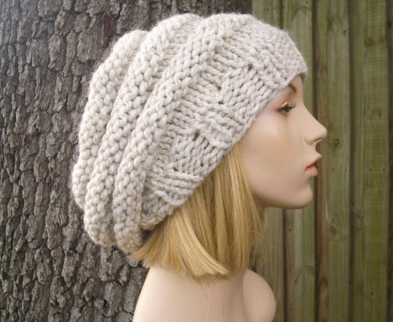 Wheat Womens Hat Slouchy Beanie - Oversized Beehive Beret Hat Wheat Knit Hat - Wheat Hat Wheat Beanie Wheat Beret Womens Accessories