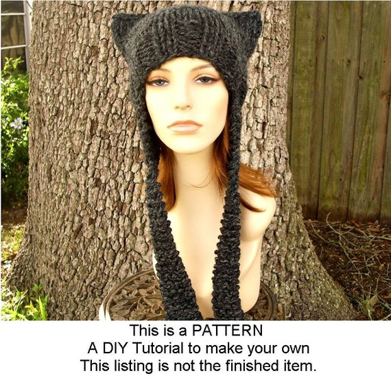 Instant Download Knitting Pattern - Knit Hat Knitting Pattern - Knit ...