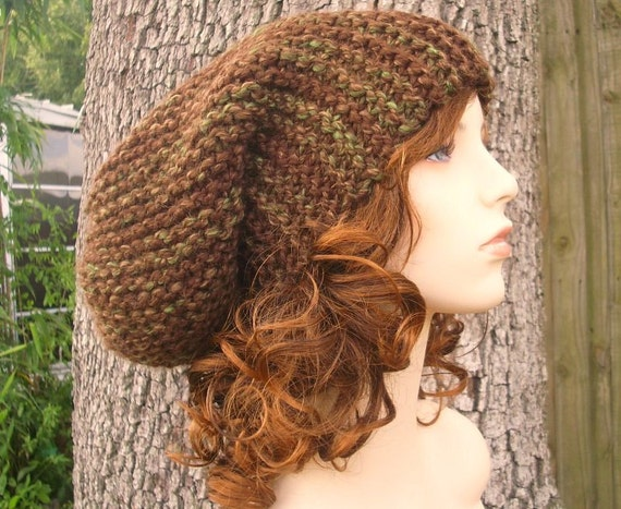 Womens Hat Oversized Slouchy Beanie Brown Slouchy Hat Mesquite Brown Knit Hat - Brown Hat Brown Beanie Womens Accessories Winter Hat