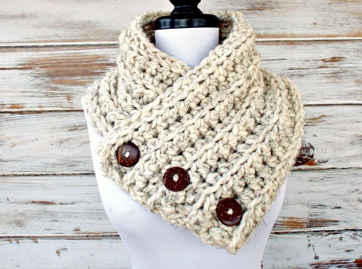 Instant Download Crochet Pattern Pdf Crochet Cowl Chunky Etsy