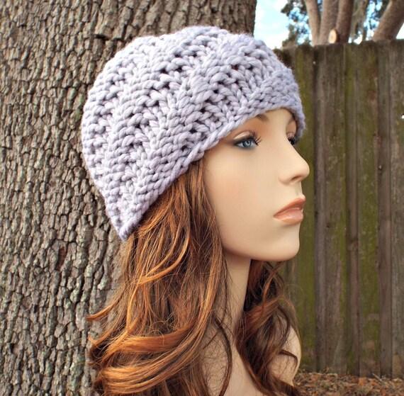 Grey Beanie Mens Hat Womens Hat Swirl Beanie Pewter Light  8e0930686db