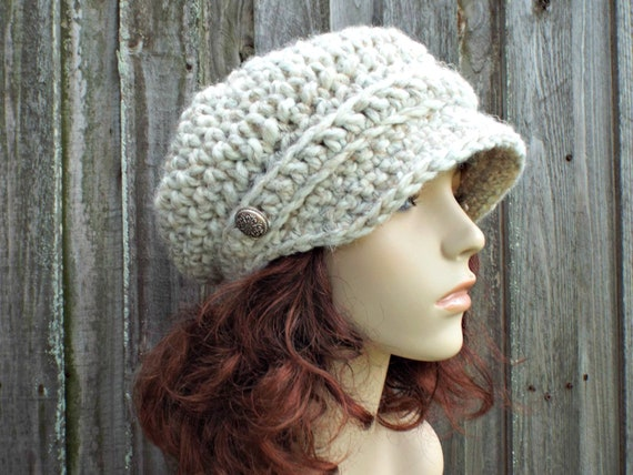 a040e064b77bd8 ... Beanie $40.00 Crochet Hat Womens Hat Wheat Cream Newsboy Hat - Crochet  Newsboy Hat in Cream Crochet Hat