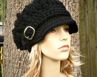 Instant Download Crochet Pattern - Hat Crochet Pattern - Crochet Hat Pattern Oversized Monarch Newsboy Beret Hat - Womens Hat