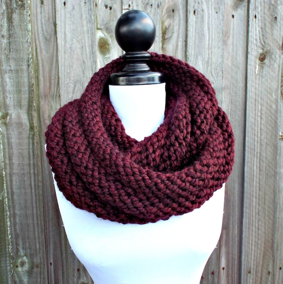Red Infinity Cowl Wine Red Womens Cowl Scarf - Gretel Wrap Infinity Scarf - Red Scarf Red Cowl Red Wrap Wine Scarf Wine Wrap Wine Cowl