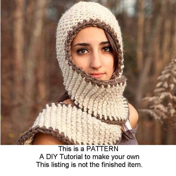 Instant Download Knitting Pattern - Knit Scarf Pattern - Knit Hat Pattern Garter Series Hats - Womens Scarf Hat Pattern Womens Chunky Scarf