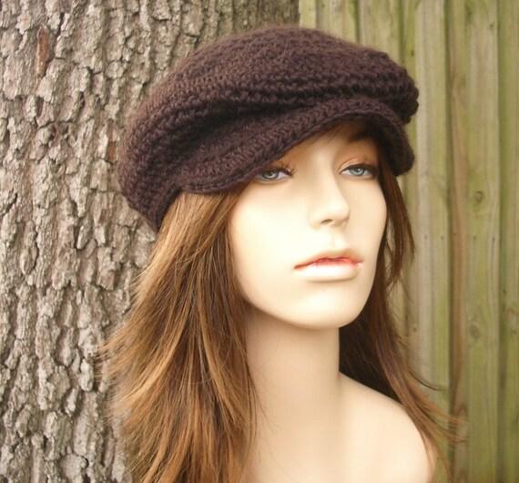 Chocolate Brown Newsboy Hat Brown Crochet Hat Brown Womens Hat Brown Mens Hat - Brown Flat Cap Brown Hat Golf Hat Womens Accessories