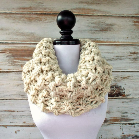 Womens Oversized Circle Scarf Chunky Scarf Highlands Wheat Cream Cowl - Womens Accessories Fall Fashion Winter Scarf