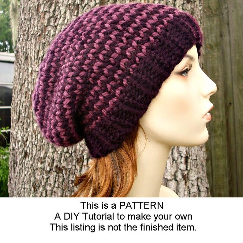 Instant Download Knitting Pattern Knit Hat Knitting Pattern  479f8c65d7c