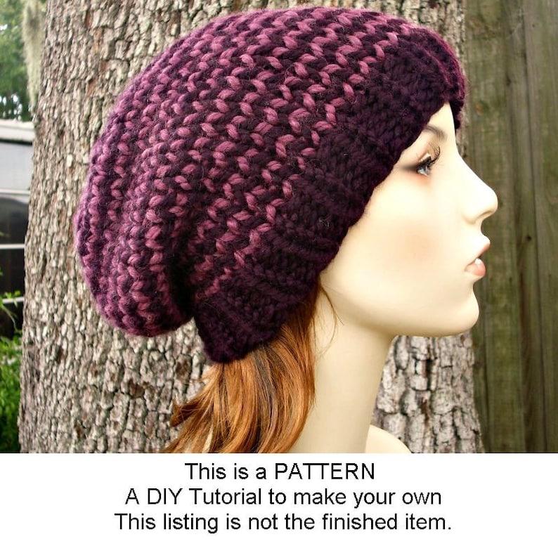 Instant Download Knitting Pattern Knit Hat Knitting Pattern  498d7e9b807