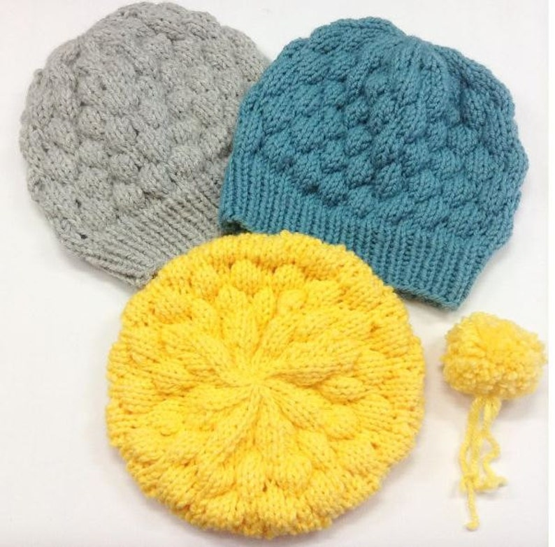 5902218d361 Instant Download Knitting Pattern Bubble Beanie Hat Pattern
