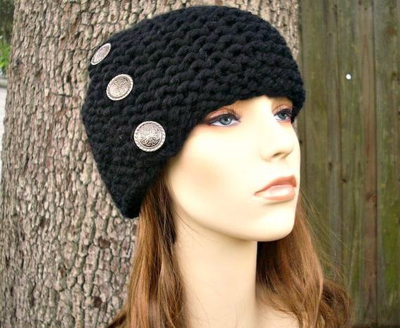 710dcffe3e90f9 ... Brown Beanie Womens Accessories Winter Hat $30.00 Knit Hat Black Womens  Hat - Cardigan Beanie Hat in Black Knit Hat - Black Hat