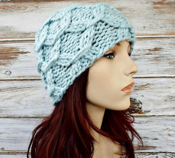 Knit Hat Blue Womens Hat - Beatrix Beanie in Glacier Blue Knit Hat Blue Beanie Blue Hat Womens Accessories