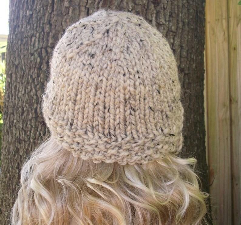 Oatmeal Cloche Hat Oatmeal Knit Hat Oatmeal Hat Oatmeal Beanie Womens Accessories Winter Hat Knit Hat Oatmeal Womens Hat