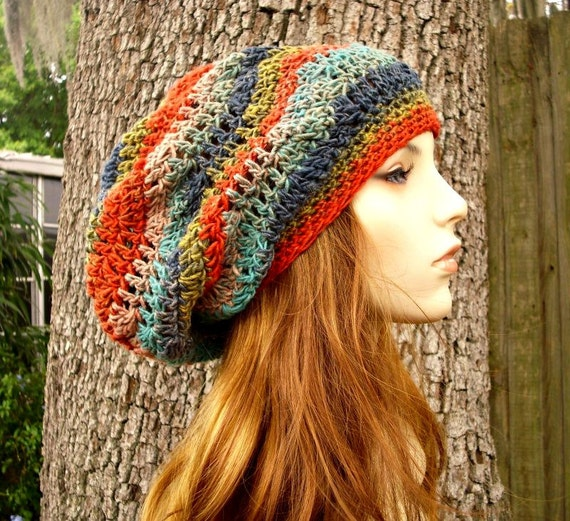 Instant Download Crochet Pattern - Crochet Hat Pattern - Chevron Slouchy Hat Pattern - Womens Hat Pattern - Womens Accessories
