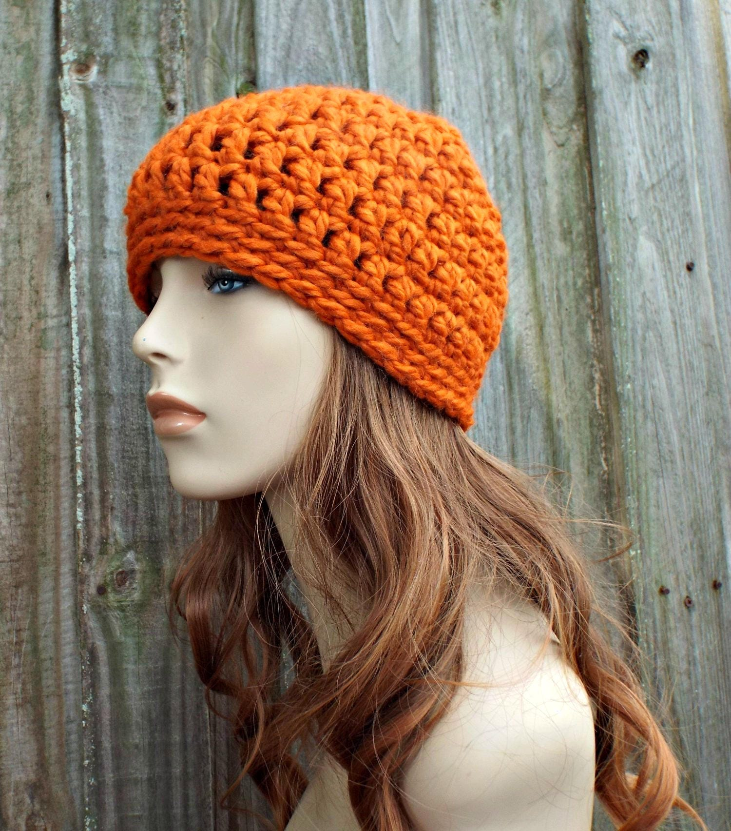 67196d86720 Pumpkin Orange Beanie - Orange Crochet Hat Orange Womens Hat Orange Mens Hat  - Warm Winter Hat - Orange Hat - READY TO SHIP