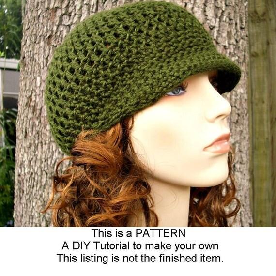 Instant Download Crochet Pattern - Hat Crochet Pattern - Crochet Hat Pattern for Skater Boy Hat - Womens Newsboy Hat - Womens Accessories
