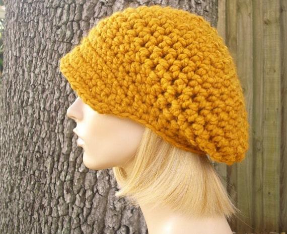 Crochet Hat Womens Hat Mustard Newsboy Hat - Crochet Newsboy Hat Mustard Yellow Crochet Hat - Yellow Hat Yellow Newsboy Womens Accessories