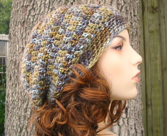 Crochet Hat Womens Hat Slouchy Beanie - Weekender Slouchy Hat in Bayou Blue Crochet Hat - Womens Accessories Winter Hat