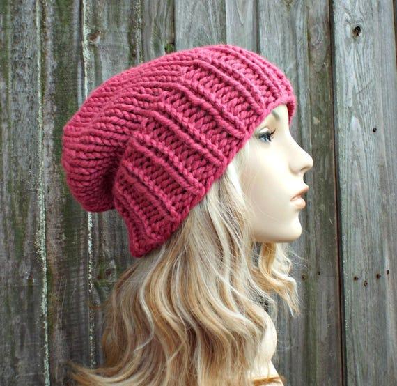 6e0806ea430 Womens Mens Chunky Knit Hat Fall Fashion Warm Winter Hat Knit