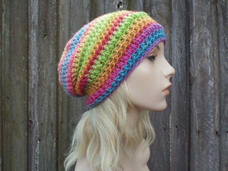 9f7c13f7f31 Crochet Hat Womens Hat Penelope Puff Stitch Slouchy Beanie