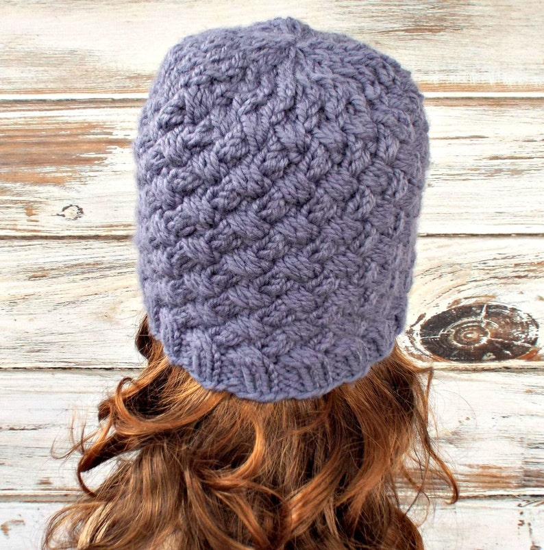 7c1c8eaa43a Knit Hat Womens Hat Harlow Diagonal Basket Weave Beanie Page