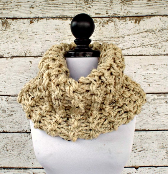 Instant Download Knitting Pattern - Knit Cowl Circle Scarf Pattern - Highlands Oversized Cowl Knitting Pattern Womens Accessories