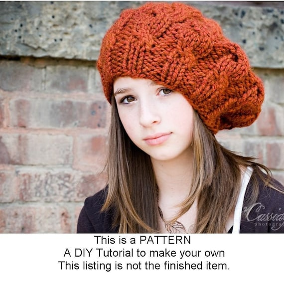 Instant Download Knitting Pattern Womens Hat Pattern Knit Etsy
