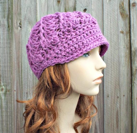 Purple Womens Hat Purple Newsboy Hat - Pippa Swirl Crochet Newsboy Hat Aster Purple Crochet Hat Purple Beanie Womens Accessories