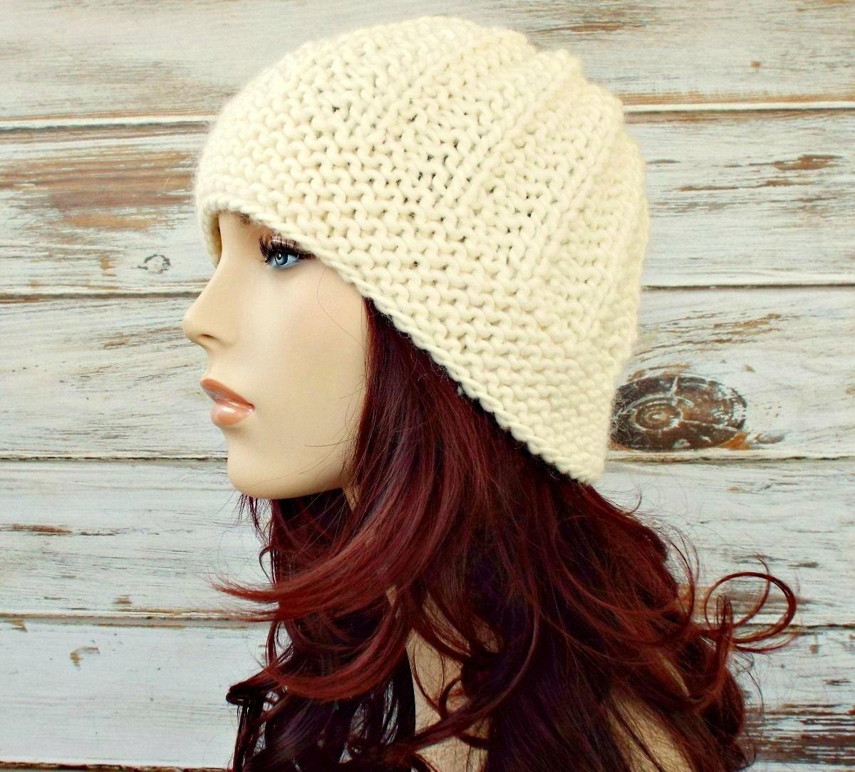 de91169ff3f Cream Womens Hat Imogen Ribbed Beanie in Cream Knit Hat