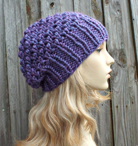 Instant Download Chunky Beanie Knitting Pattern Knit Hat Etsy