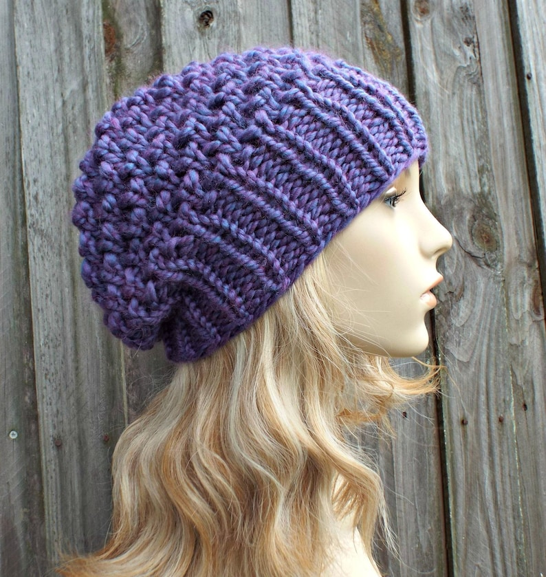 01f2fa0f69f Instant Download Chunky Beanie Knitting Pattern Knit Hat