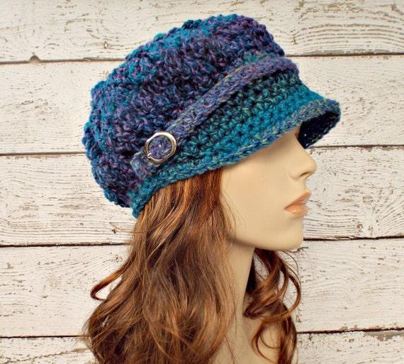 Blue Newsboy Hat Blue Womens Hat - Spring Monarch Ribbed Crochet Newsboy Hat Caribbean Blue Crochet Hat Womens Accessories Fall Fashion