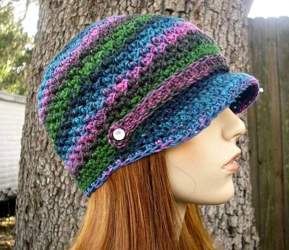 Instant Download Crochet Pattern - Newsboy Hat Pattern - Crochet Hat Pattern Chesapeake Beanie - Womens Hat Pattern - Womens Accessories