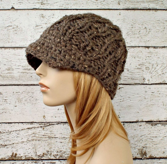 Brown Womens Hat Brown Newsboy Hat Amsterdam Beanie with  e8584a16f53