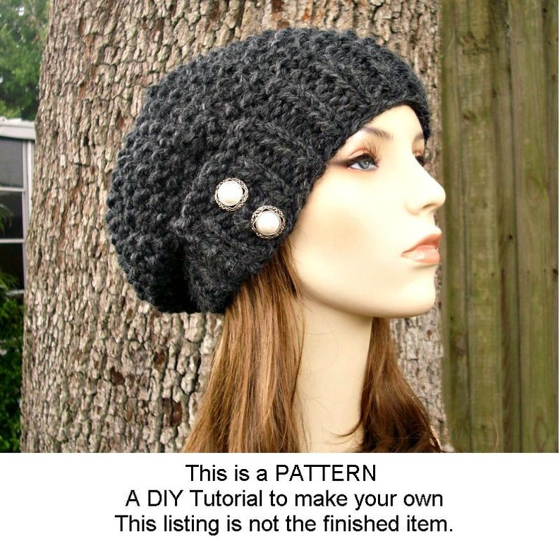 Instant Download Knitting Pattern  Knit Hat Knitting Pattern image 0