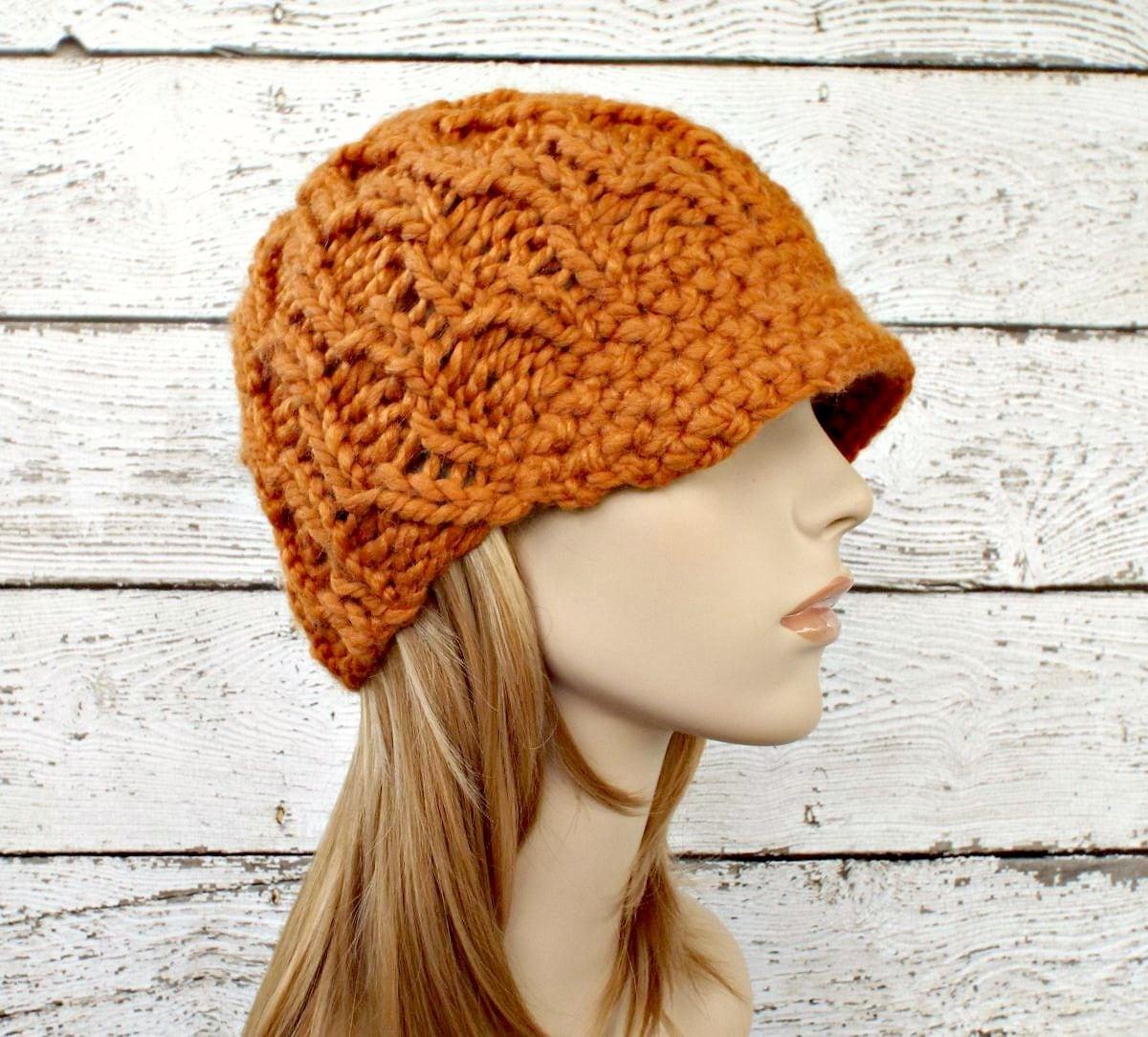 Orange Womens Hat Orange Newsboy Hat Amsterdam Beanie  028f45c3265