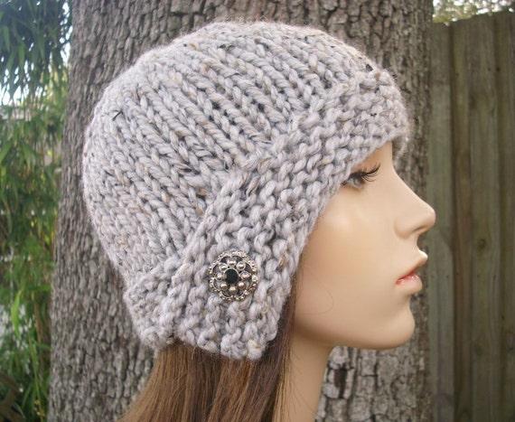 Marble Tweed Grey Cloche Hat Knit Hat Grey Womens Hat - Grey Beanie Grey Hat Grey Cloche Womens Accessories Winter Hat