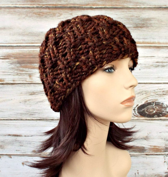Brown Knit Hat Brown Womens Hat Brown Mens Hat - Amsterdam Beanie in Sequoia Brown - Brown Hat Brown Beanie Womens Accessories Winter Hat