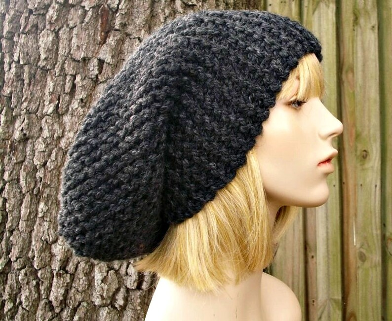 31f1d85b8be Knit Hat Womens Hat Slouchy Beanie Slouchy Knit Hat in