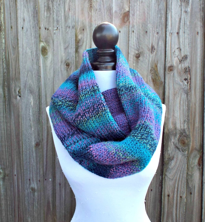 Double Knit Infinity Scarf Womens Knit Circle Scarf Etsy