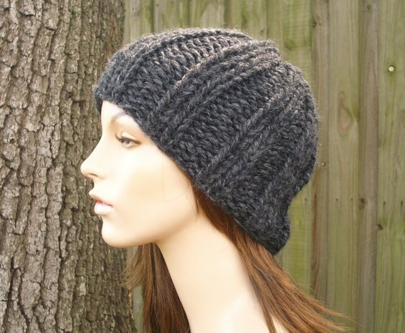 Charcoal Grey Beanie Grey Hat Mens Hat Womens Hat - Ribbed Knit Beanie Womens Accessories Fall Fashion Chunky Beanie