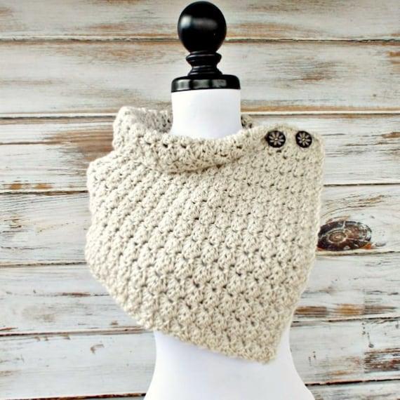Instant Download Crochet PATTERN PDF - Crochet Cowl Pattern Crochet Scarf Pattern - Eloise Cowl Capelet Pattern Womens Accessories