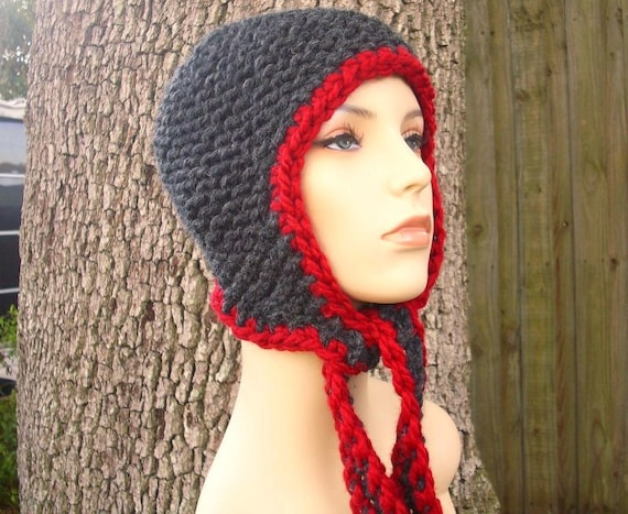 Instant Download Knitting Pattern - Knit Beanie Pattern - Knit Hat Pattern for Garter Ear Flap Hat - Womens Accessories