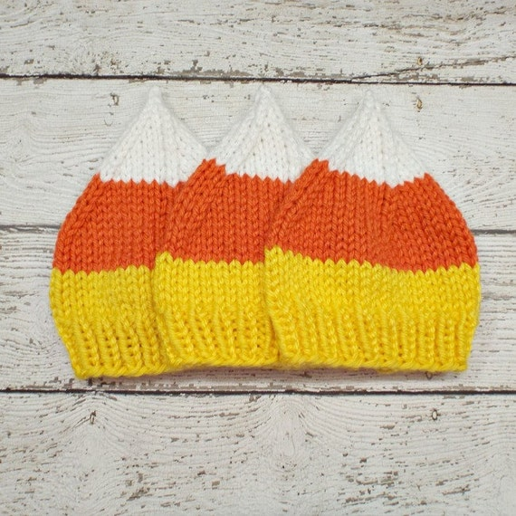 Instant Download Knitting Pattern - Knit Hat Pattern Halloween Hat Pattern - Candy Corn Hat Pattern - Womens Accessories