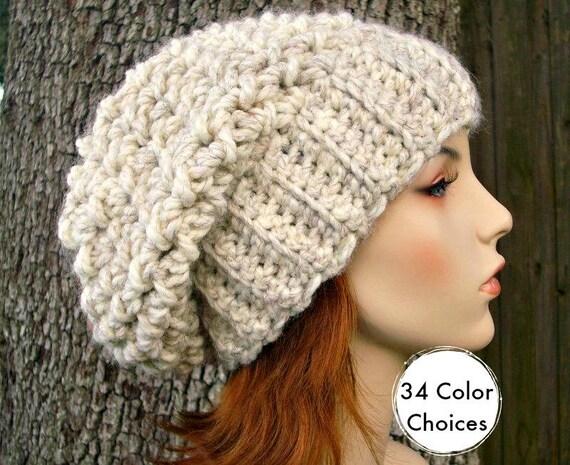 Wheat Womens Hat Slouchy Beanie Slouchy Hat - Souffle Beret Wheat Crochet Hat - Womens Accessories Winter Hat