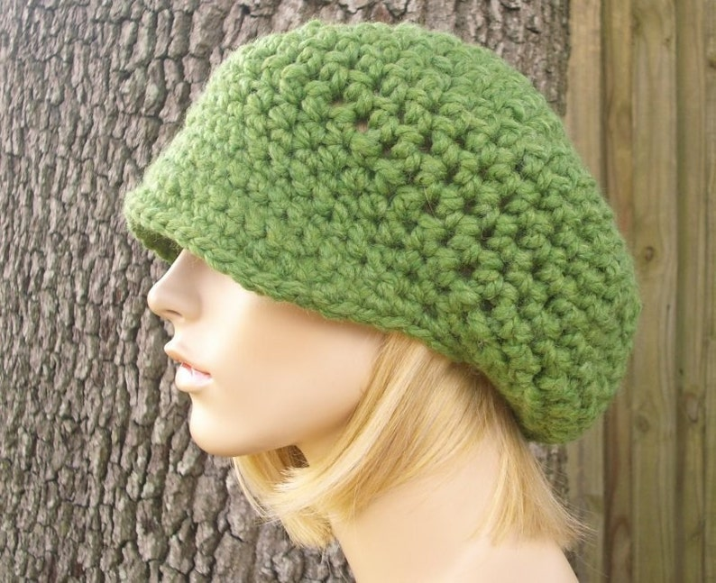 Green Womens Hat Green Newsboy Hat - Crochet Newsboy Hat Grass Green  Crochet Hat - Green Hat Womens Accessories Fall Fashion Winter Hat